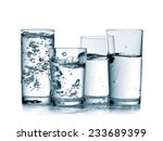 Four Glasses  With Water