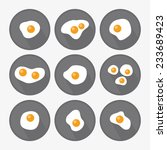 Fried Eggs Icon Set