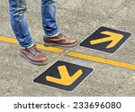 confusion   direction   arrow | Shutterstock . vector #233696080