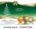 christmas card with christmas... | Shutterstock .eps vector #233697286