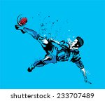 vector illustration of soccer... | Shutterstock .eps vector #233707489