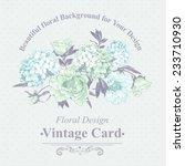 gentle blue vintage floral... | Shutterstock .eps vector #233710930