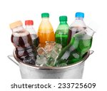 cold beverages in plastic ... | Shutterstock . vector #233725609