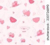 vector seamless pink pastel... | Shutterstock .eps vector #233726890