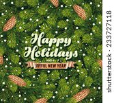 holiday card a pine branches | Shutterstock .eps vector #233727118