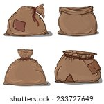 canvas sack set vector. canvas... | Shutterstock .eps vector #233727649