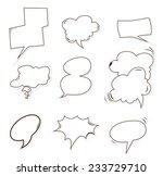bubble speech object hand drawn ...
