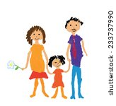 happy family vector... | Shutterstock .eps vector #233737990
