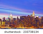 new york city  usa. downtown... | Shutterstock . vector #233738134