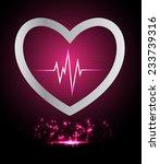 dark pink pulse light abstract... | Shutterstock .eps vector #233739316