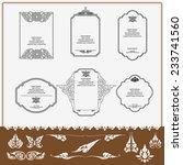 set of thai ornament  thai... | Shutterstock .eps vector #233741560