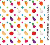 vegetable icons pattern with... | Shutterstock .eps vector #233743228