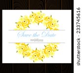 wedding invitation cards with... | Shutterstock .eps vector #233745616