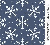 Snowflake Seamless Pattern....