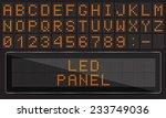 led digital font on black... | Shutterstock .eps vector #233749036