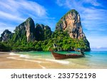 stunning view of railay beach... | Shutterstock . vector #233752198