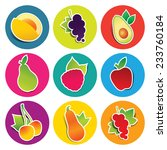 set of fruit icons in the... | Shutterstock .eps vector #233760184