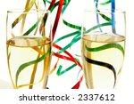 champagne glasses and ribbons... | Shutterstock . vector #2337612