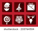 christmas and winter icons... | Shutterstock .eps vector #233764504