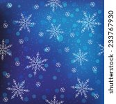 winter blue snowflakes... | Shutterstock . vector #233767930