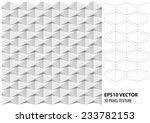 abstract 3d white geometric... | Shutterstock .eps vector #233782153