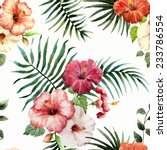 hibiscus  background  watercolor | Shutterstock .eps vector #233786554