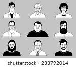 set of vector men icons | Shutterstock .eps vector #233792014