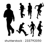 vector silhouette of people who ... | Shutterstock .eps vector #233792050