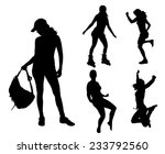 vector silhouettes of different ... | Shutterstock .eps vector #233792560