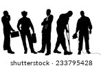 vector silhouettes of different ... | Shutterstock .eps vector #233795428