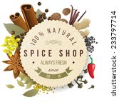 spice shop paper emblem with... | Shutterstock .eps vector #233797714