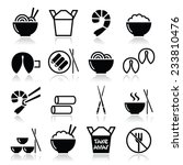 chinese take away food icons  ... | Shutterstock .eps vector #233810476