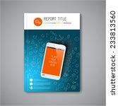 modern vector abstract brochure ... | Shutterstock .eps vector #233813560