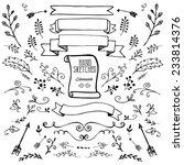 hand draw element | Shutterstock .eps vector #233814376