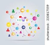 internet business abstract...   Shutterstock .eps vector #233817559