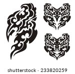 bird tribal elements. flaming... | Shutterstock .eps vector #233820259