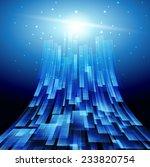 blue technology background... | Shutterstock . vector #233820754