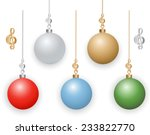 christmas ornaments with... | Shutterstock .eps vector #233822770