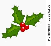holly berry icon. christmas...   Shutterstock .eps vector #233831503