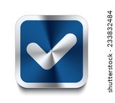 square metal button with...