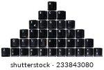 Pile Of Black Keyboard Keys...