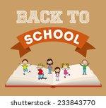 back to school design   vector... | Shutterstock .eps vector #233843770