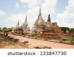 old temple of ayuthaya  thailand | Shutterstock . vector #233847730