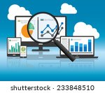 website analytics and seo data... | Shutterstock .eps vector #233848510