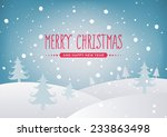 merry christmas landscape | Shutterstock .eps vector #233863498