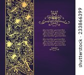 vintage congratulations card... | Shutterstock .eps vector #233866399