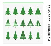 christmas trees collection. set ...   Shutterstock .eps vector #233873413