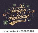 Happy Holidays Hand Lettering...