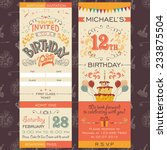 birthday party invitation... | Shutterstock .eps vector #233875504