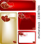 valentines day card   banner   Shutterstock .eps vector #23387686